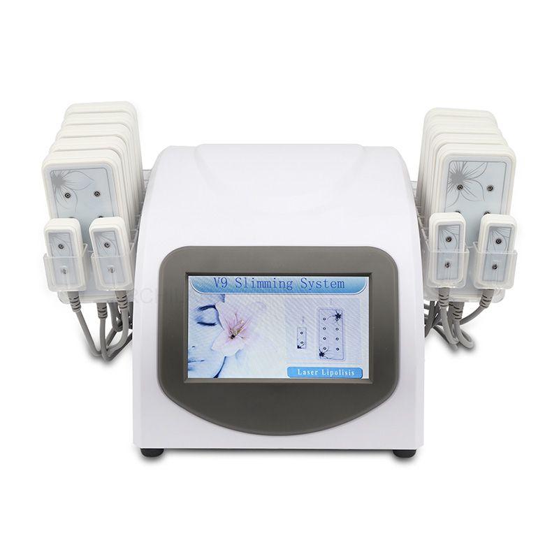 뜨거운 판매 휴대용 홈 Lipolaser 슬리밍 기계 전문 Lipo 레이저 아름다움 장비 10 개 패드 4 작은 패드 체중 감소 장치