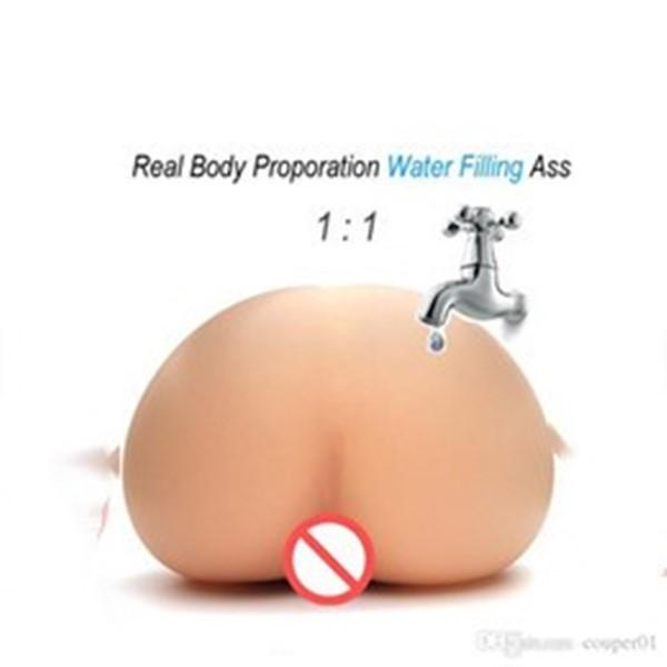 Injecting Warm Water filling Inflatable Silicone Realistic Pussy Real Body Temperature Male Masturbactor Big Ass Sex Toy for Men