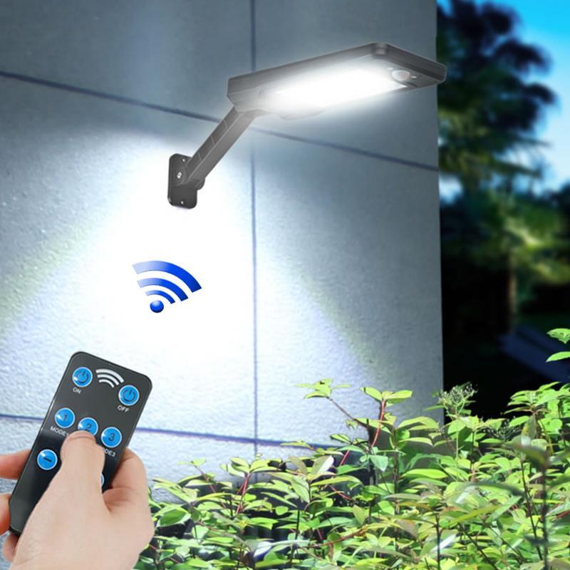 Solar luci esterne della lampada da parete del sensore di movimento Notte di sicurezza 48 72 impermeabile porta a risparmio energetico giardino anteriore LED Yard Lighting