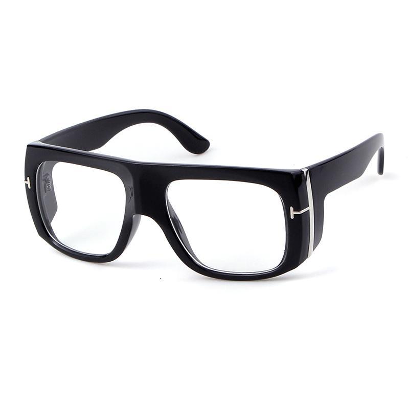Uomini sunglasses oversize Donne Futuristico 2019 Fashion Brand Design Vintage Retro Leopard telaio Flat Top Tom Occhiali da sole S062 CH01