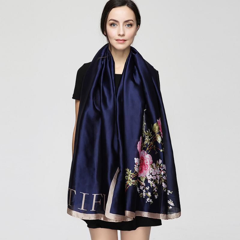 180см * 90см шарф женщин 2020 Новая мода Euro Design Классическая Sexy Leopard Printed Long шелковый шарф Большой платок