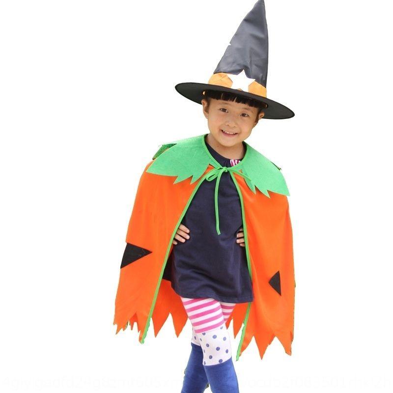 FYUIf Halloween-Kleidung Kinder Mantel grüner Mantel Hexe Blatt Kürbis Kinder-Eltern-Kind-Satz Kürbis Kleidung 1tLmM