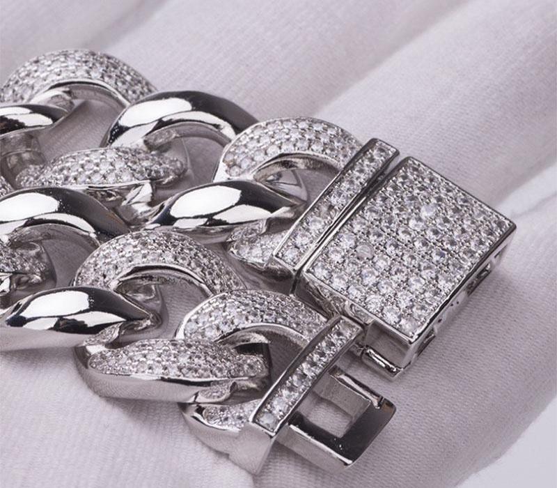 Donia bijoux de mode cuivre européens et américains micro incrusté de zircon style hip hop cubain hommes boucle boîte Bracelet de jewelry66