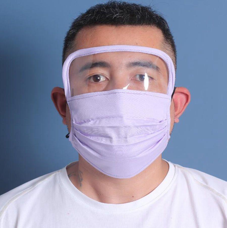 2 en 1 Bouclier chaud Masques anti-poussières Protection totale du visage anti-buée huile de protection Masque Ahb121