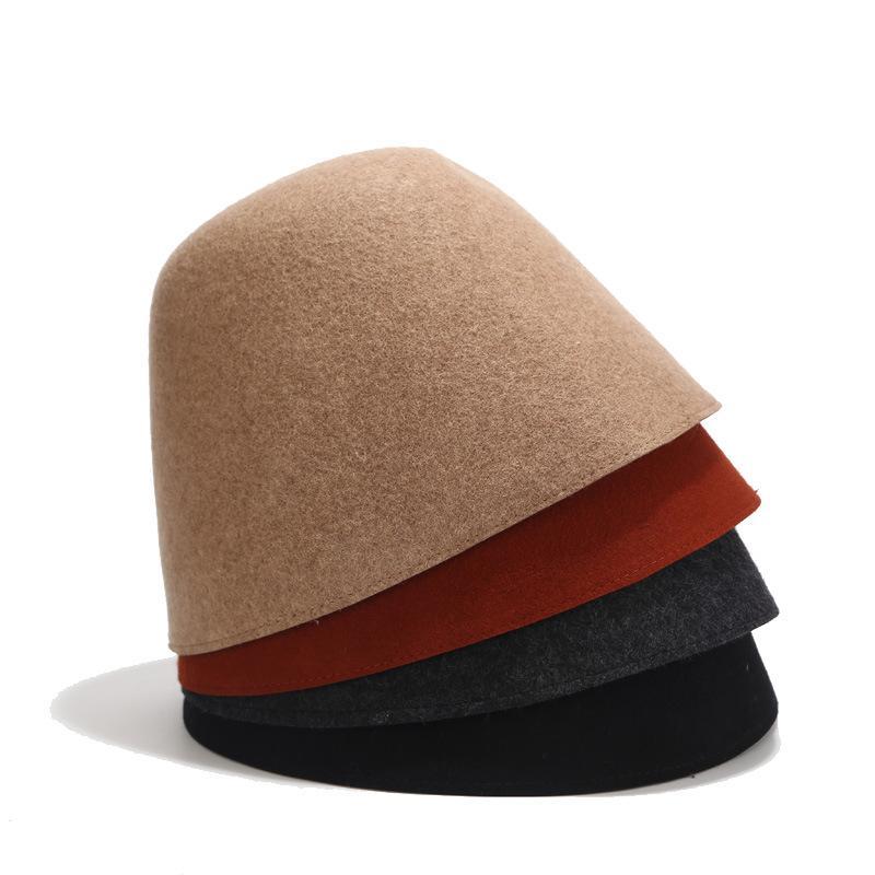 retro estilo japonés pura lana sombrero cuenca del cubo del sombrero de otoño hombre nuevo marea de pesca al aire libre de los sombreros del invierno de las mujeres y los hombres