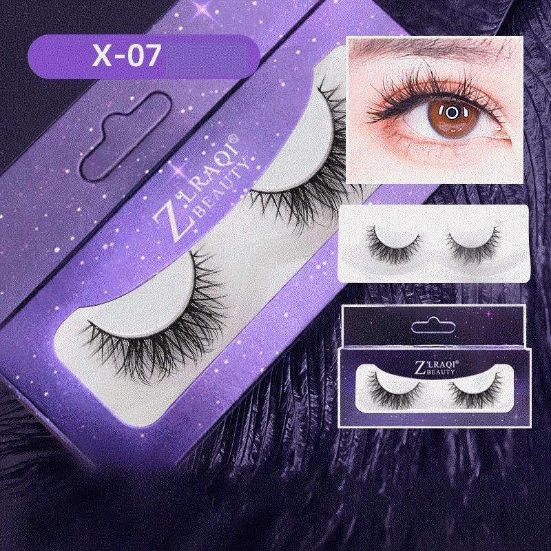 Neue Art und Weise Frauen weiche natürliche starke falsche Wimper-Verlängerungs Schönheit Make-up-Tools Curly-Kreuz-Fälschungs-Augen-Peitsche-Handmade