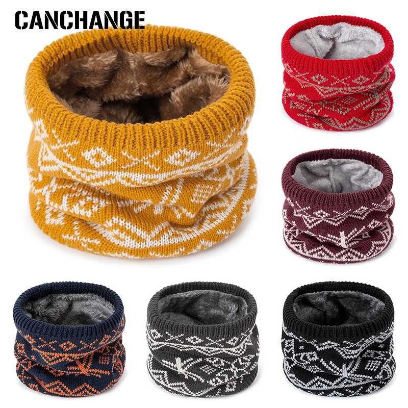Artículos de punto para la bufanda del invierno de punto de algodón anillo de los hombres del nuevo cuello de Modelo geométrico O Bufanda Unisex bufanda bufandas de las mujeres