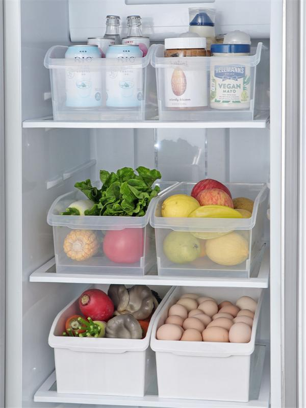 Grande transparente caixa de armazenamento Cozinha Caixa de armazenamento plásticos contêm Sealed Início Organizador Container Frigorífico
