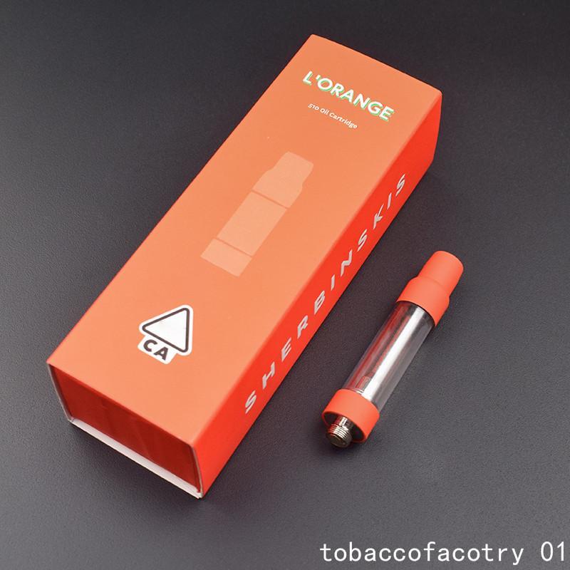 Nuovi Sherbinskis Carrelli Vape atomizzatore Imballaggio 0.8ml Svuotare Spesso Oil Carrello Dab Cera Vape Pen vaporizzatore atomizzatori 510 Discussione