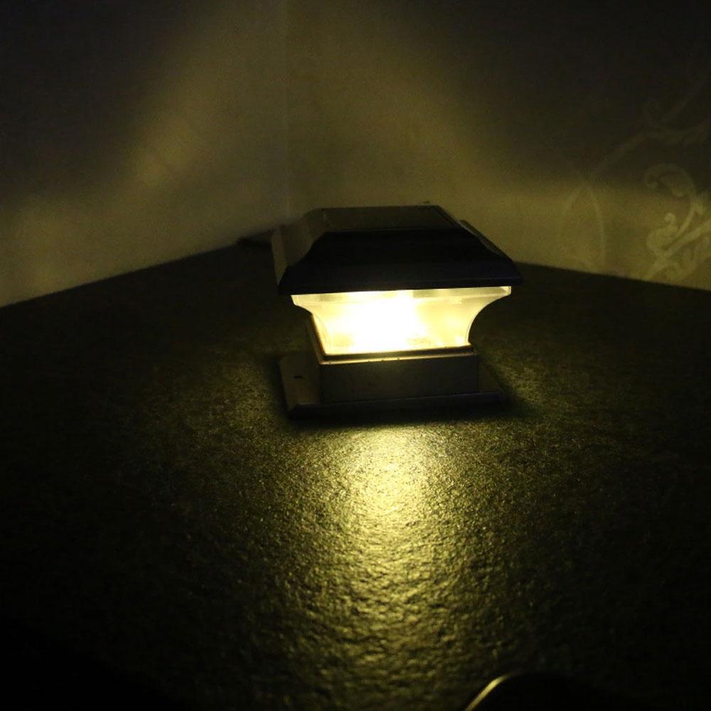 Brelong extérieur solaire Pilier Lumière Cour Villa Pilier Lumière Jardin Paysage Enclosing IP44 Clôture imperméable 1 Pc