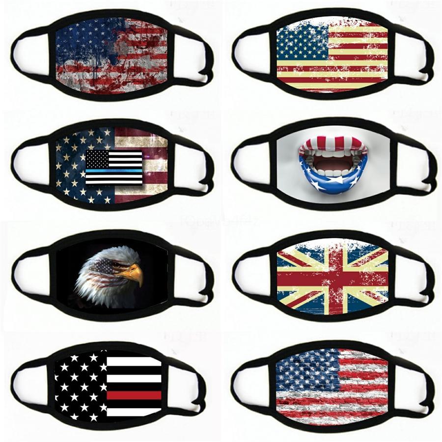 Amerikanische Flagge Outdoor Sports Stirnband Masken Sonnencreme Multifunktionale Radfahren Nahtlose Kopftuch Frauen Bandanas # 492 XSEVC