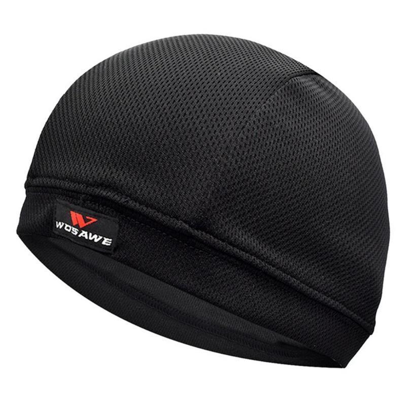 Protector solar que absorbe la humedad de refrigeración casco interior Liner Beanie tapa del domo Banda de sudor de los hombres respirables al aire libre Ciclismo Sombreros Sombreros