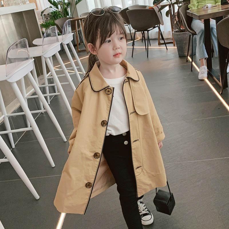Neue 2020 Art und Weise Mädchen Trenchcoats lange Mädchen Mäntel lange Kinder Mäntel Trenchcoat Mädchen Oberbekleidung Kindmantel Einzelhandel verlieren