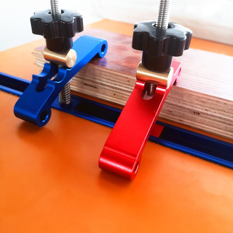 Модернизированный алюминиевый сплав Т-трек зажимные блоки деревообрабатывающий координатно Универсальный Т слот зажимные блоки Валик Деревообрабатывающий инструмент