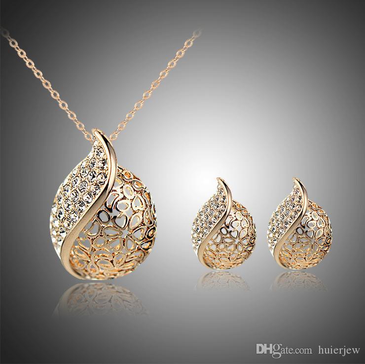Sistemas de la joyería joyería de dama Conjunto colgantes regalo collar largo pendientes de Boda en India Partido joyería africana