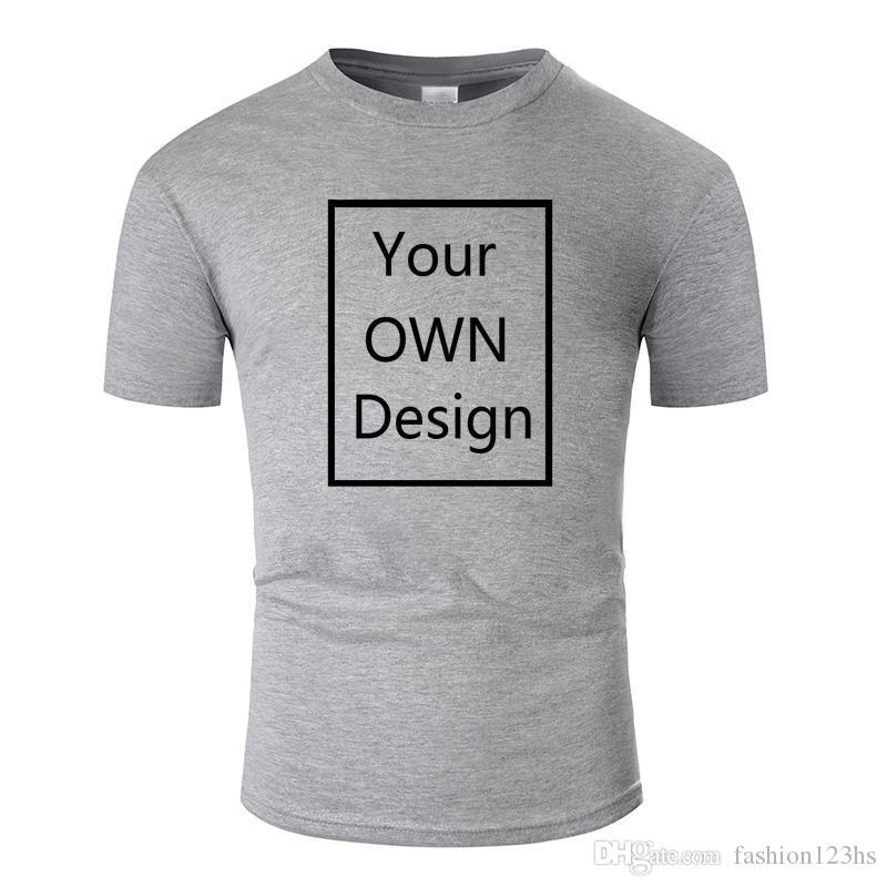 Votre propre conception Marque Logo / Photo personnalisé Hommes et femmes bricolage coton T-shirt à manches courtes Tops T-shirt décontracté T 13 couleur tm001