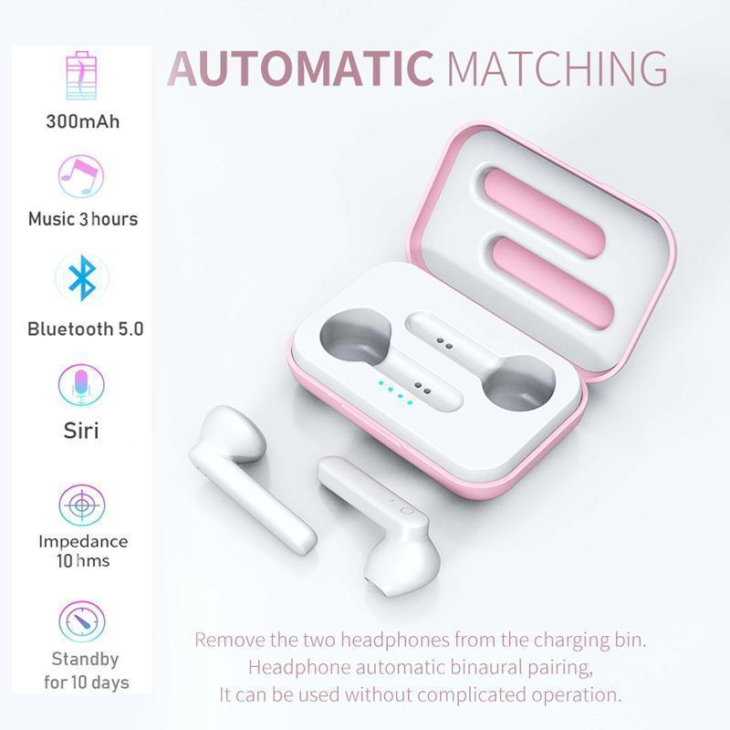Moda Miglior Tws touch Auricolari Bluetooth Wireless Headphones Sport Handfree auricolari Con Charging Box Supporto Siri Mic per il telefono
