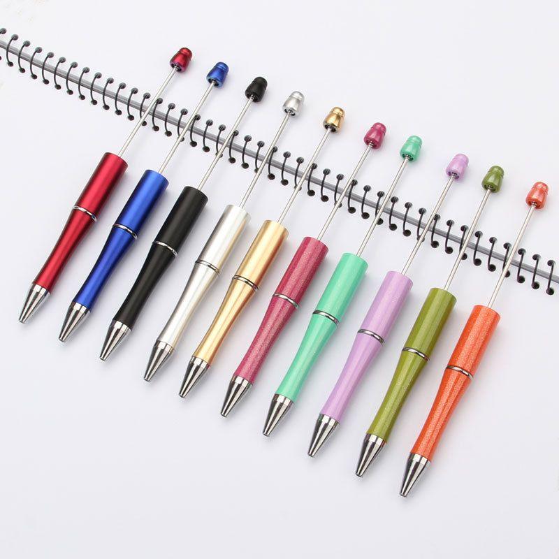 DIY Beadable Pen kreative Personalisierte Schreib Geschenk DIY Kugel Kugelschreiber Hochzeits-Geschenk für Gäste Business Advertising Pen 10 Farbe