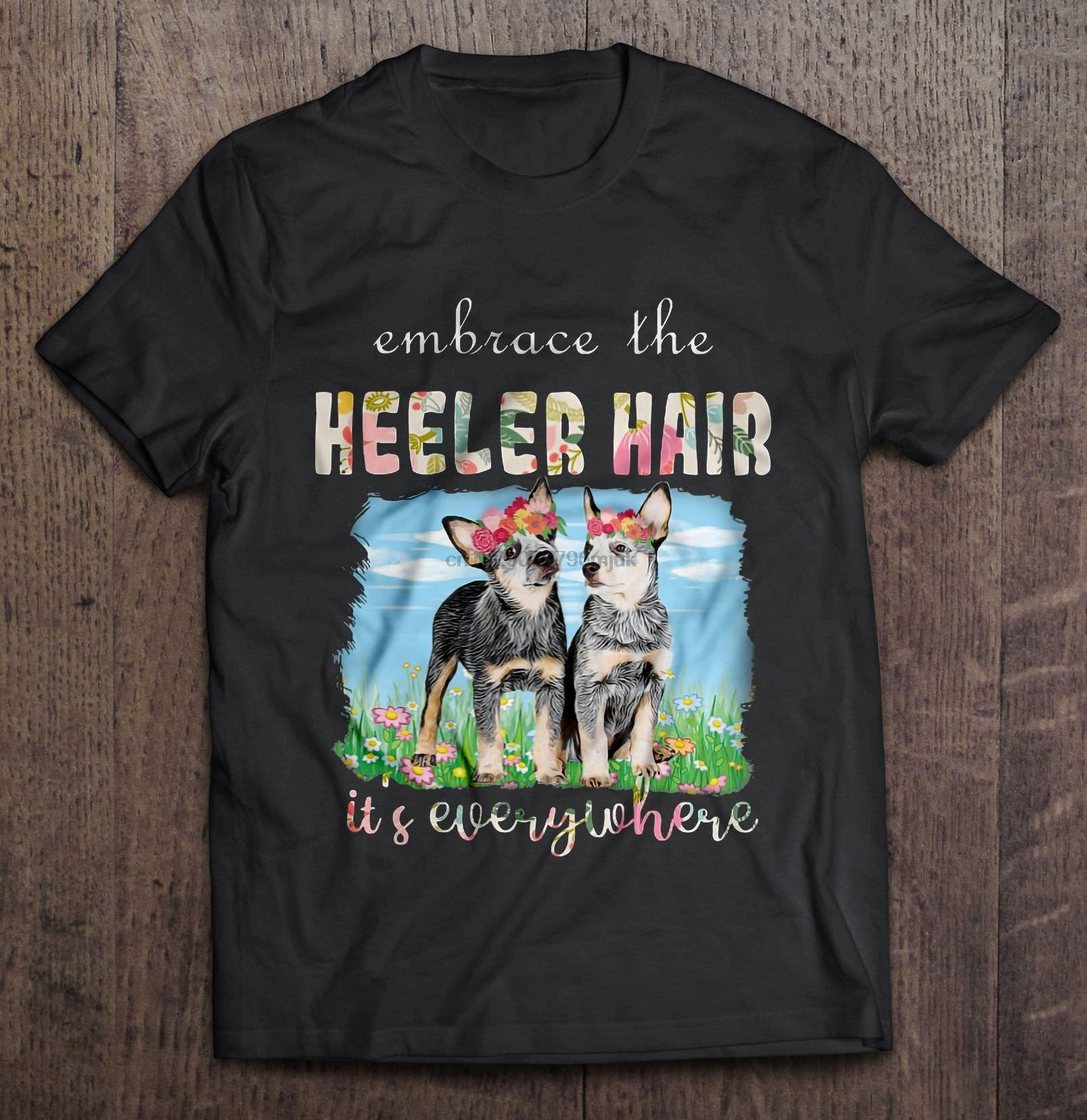 Hombres camiseta Abrazo todas partes camiseta de las mujeres del pelo Se Heeler
