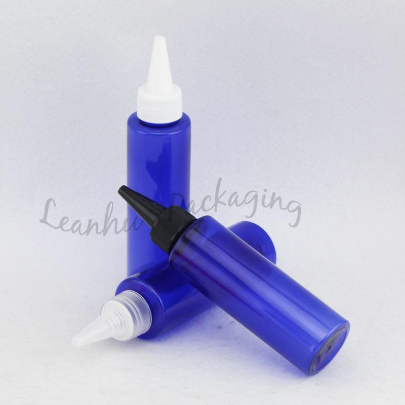 120ml azul vacíos de plástico en punta de la botella de boca de maquillaje, loción envase cosmético, maquillaje 120cc Embalaje de contenedores