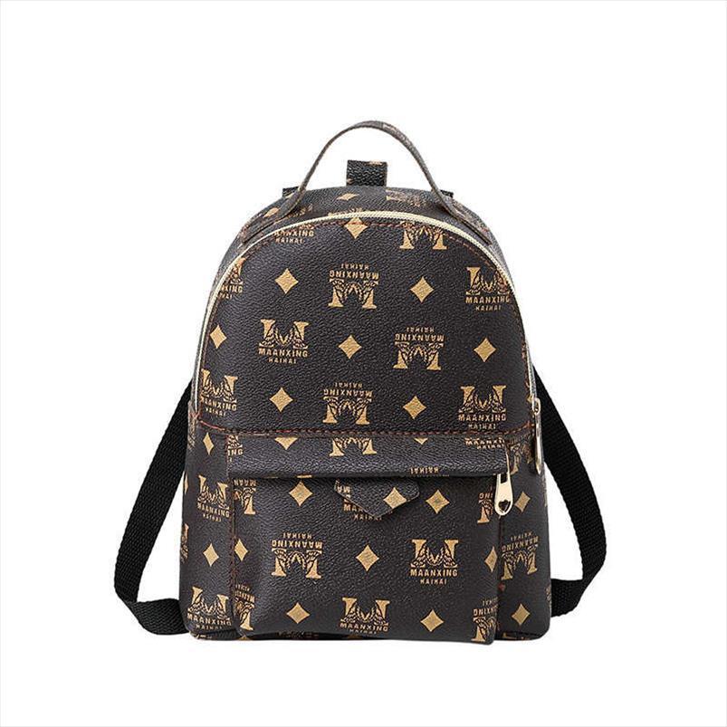 Vento Marea Mini Backpack Para Meninas Adolescentes Mulheres Letter Moda Bolsa de Ombro Multifuncional saco pequeno pacote fêmeas Telefone bolsas