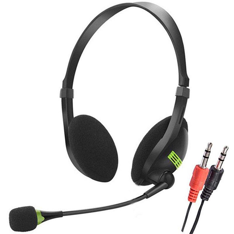 3,5 milímetros leve plug Wired Headphones Negócios Com Microfone Office Home Trabalho Gamer Headset Para Mobile Phone Computador PC Tablet