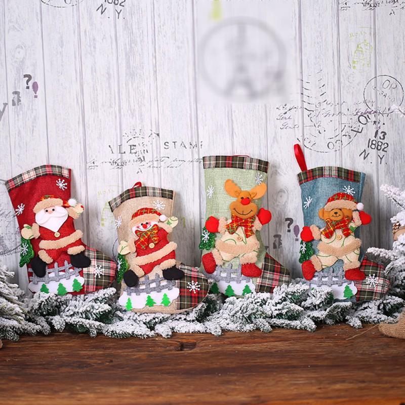 زينة عيد الميلاد السنة 2021 حقيبة هدايا تخزين نويل للمنزل نافيداد الجوارب شجرة عيد الميلاد الديكور ناتال