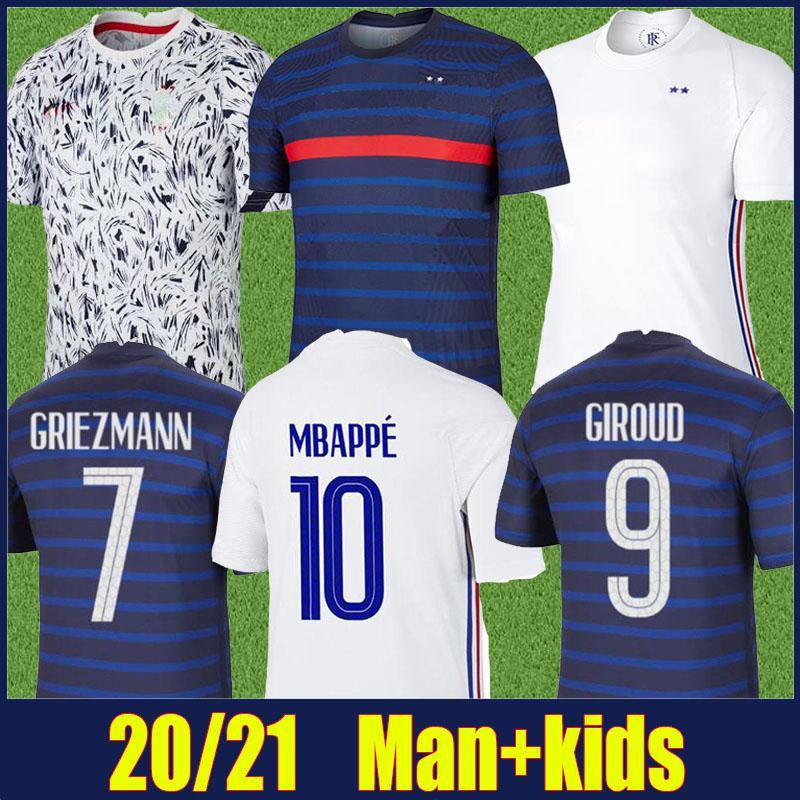2020 الفرنسي لكرة القدم جيرسي المنتخب الوطني عدة 2 النجوم الرجال الاطفال POGBA GRIEZMANN MBAPPE كرة القدم جيرسي GIROUD ديمبيلي كانتي مايوه دي القدم