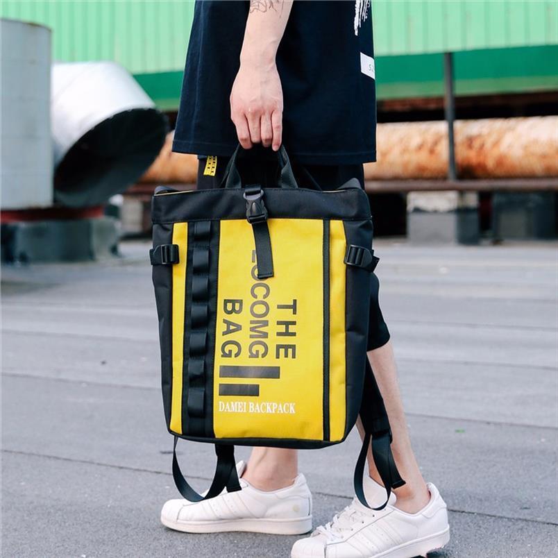 Moda mochila hombro doble para el hombre y la mujer de moda bolsa de tela Oxford ocio arte mochila grande único