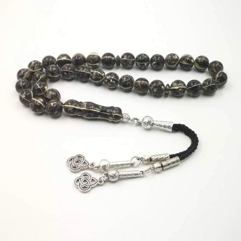 Tasbih Black Shell Mâle Musulman Chapelet de haute qualité Ramadan Muslim Preads Perles 33 Tespih Islam Homme Bracelet de bijoux