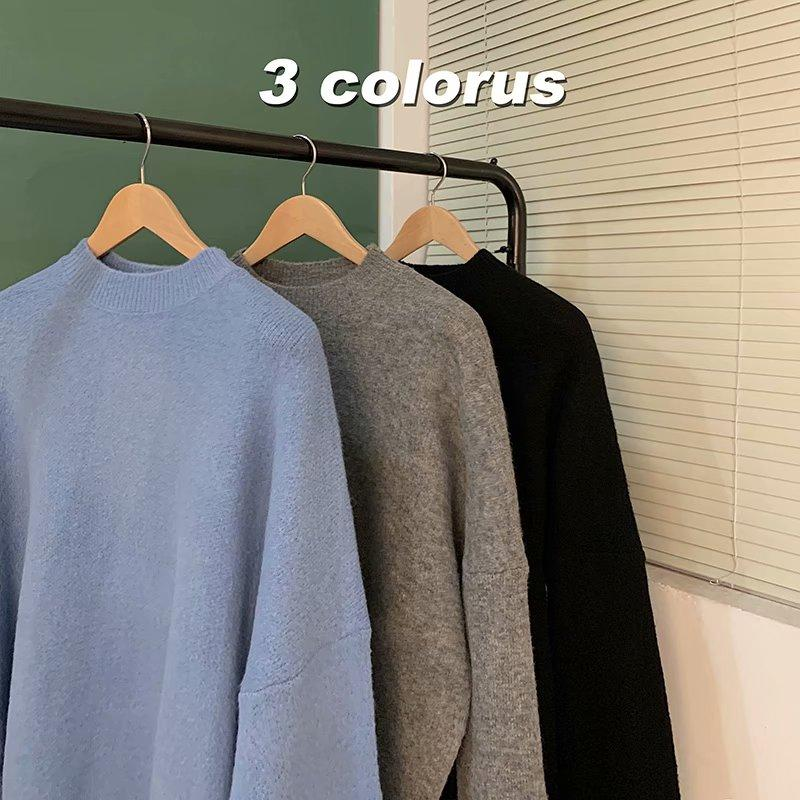 nouveaux chandails simples hommes mode casual chandails à manches longues 621