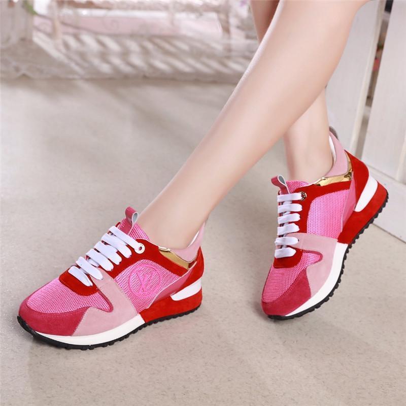 Run Away Sneaker blanc en cuir noir Suede Femme Crime Designer Mme Luxury Platform Shoes Casual Espadrille Top qualité Taille 35-41