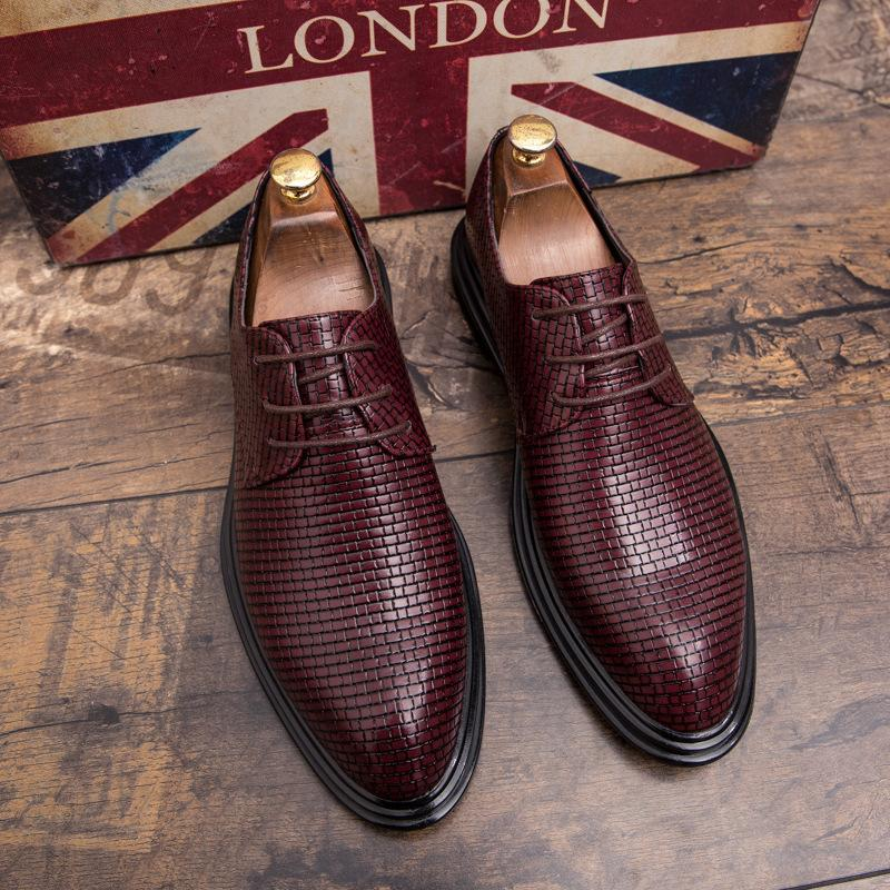 Dress Shoes 2021 Luxury Men's Leather Lace-up Formal Umens Business Business Business Appartamento