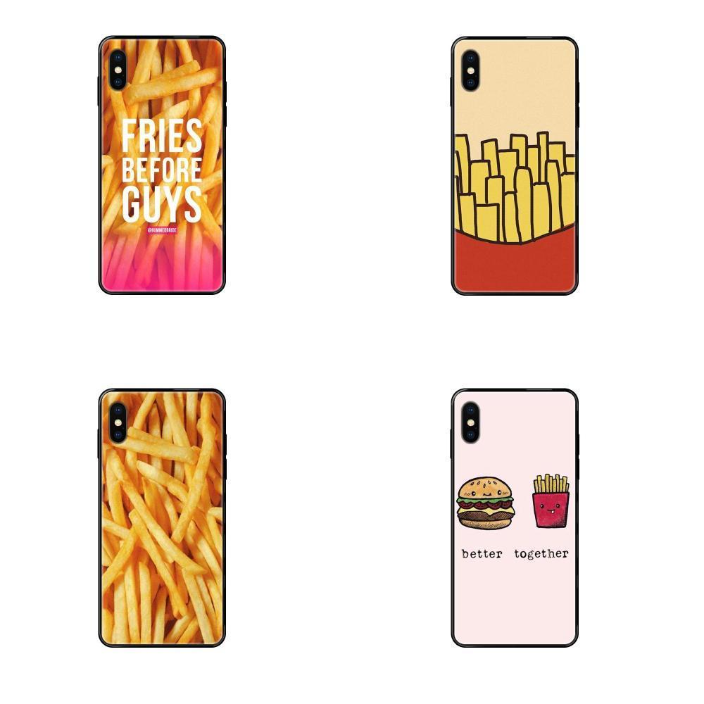 Para iPhone 11 12 Pro Max Plus Pro X XS Max XR 8 7 5 6S SE SE 5C 5S 2020 las patatas fritas Coque TPU Caso Capa