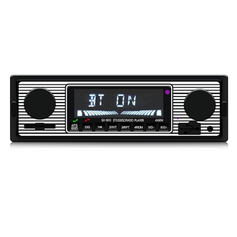 SX-5513 voiture stéréo mains libres de voiture Bluetooth Radio Lecteur MP3 simple Din USB / SD / AUX / FM Récepteur Télécommande sans fil
