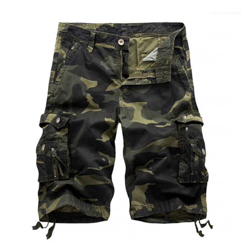 Più i pantaloni Dimensione Uomo Abbigliamento Uomo Designer Estate Shorts Pantalone mimetico stampato knee-lunghezza Mens Cargo