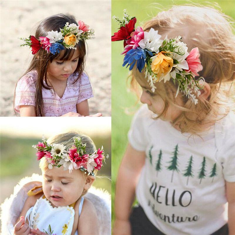 Fascia Corona Neonata appena nata del bambino Kid fiore Hairband puntello della foto Corone Ghirlande Decorazione artificiale