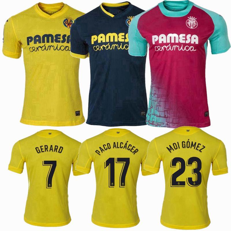 Acquista 2020 2021 Villarreal CF Soccer Jerseys Kubo Chukwueze Moreno Bacca Paco Alcácer Parejo Home Away 20 21 Camicia Da Uomo E Bambini Calcio A ...