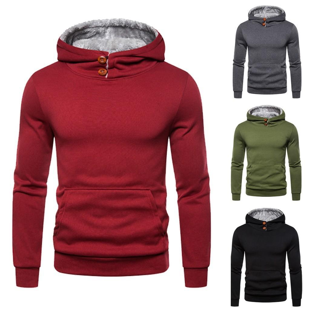 Autum Winter Men Hoodies Sweatshirts SolidColor Outwear Tops Blouse Headwear Hoodie Women fleece Streetwear Hooded Pullover T200917