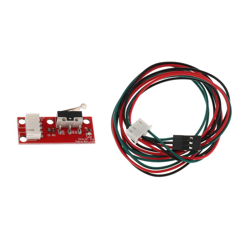 Impresora 3D Interruptor de límite mecánico Cable de finalización para rampas1.4 Makerbot Prusa