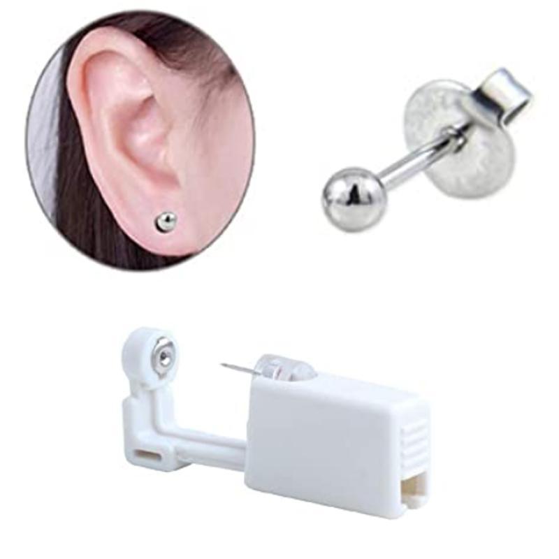 Self Ear Piercing Unit Disposable Ear Stud Gun Kit Sterilized Ear Piercing Tool For Men and Women