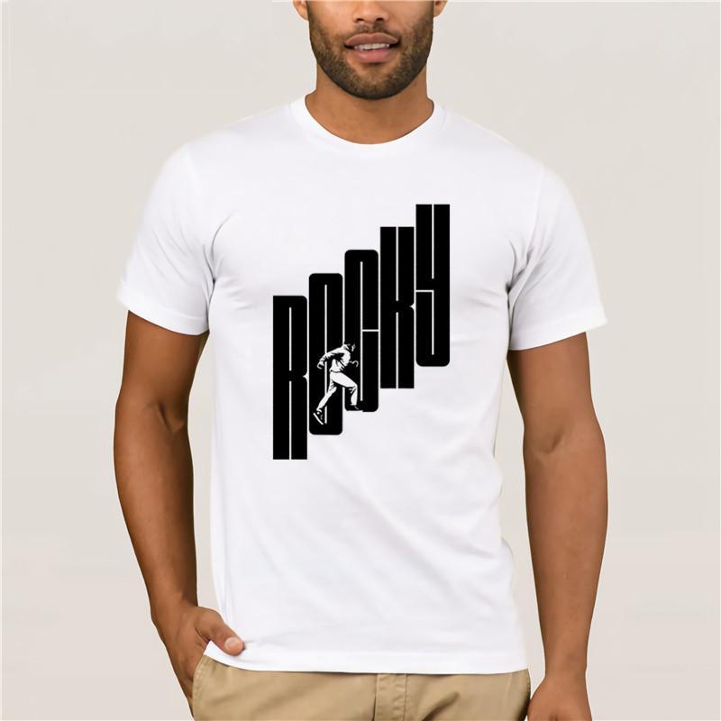 Männer-T-Shirt Cartoon-Spaß Rocky Climb Fun Männer Druck beiläufige 100% Baumwoll-T-Shirt Beliebte