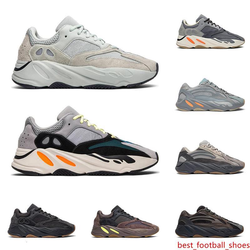 Nuevas mujeres de los zapatos 700 de 3M reflectante Kanye West Imán Utilidad Negro corredor de la onda Vanta para hombre de las zapatillas de deporte de moda entrenadores ejecutan