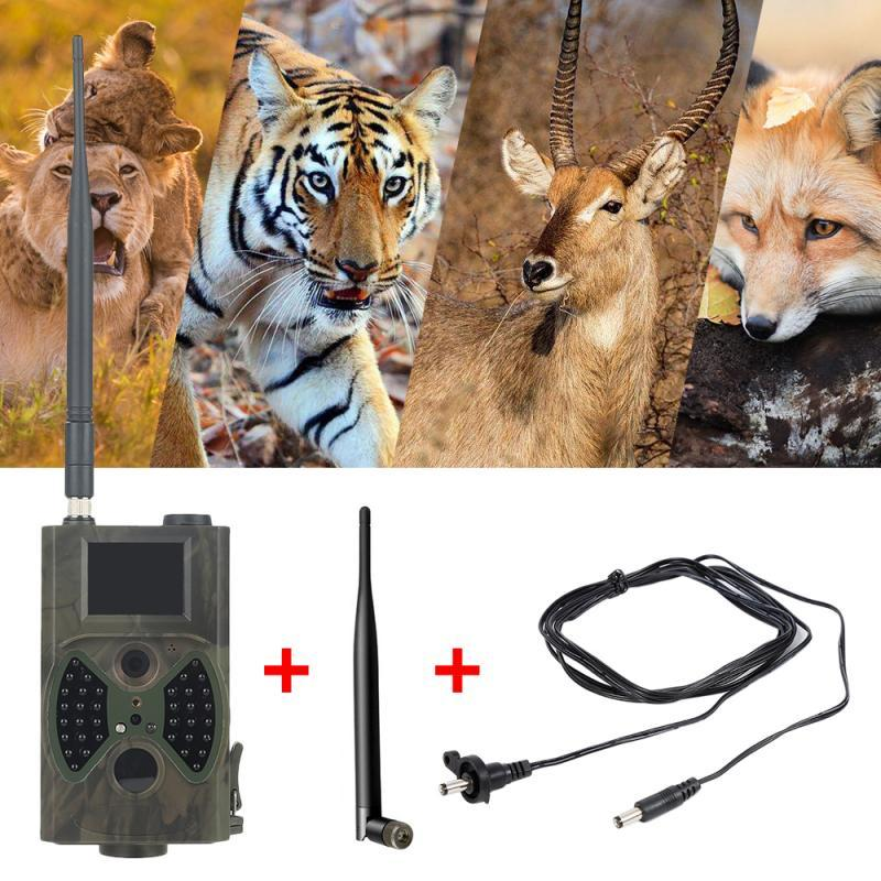 HC300M 사냥 카메라 GSM 12MP 1080P 사진 트랩 나이트 비전 야생 동물 사냥 트레일 카메라 사냥 샤쓰 스카우트 적외선