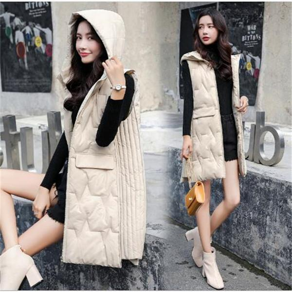2020 nuovi cotone cotone gilet gilet di cotone autunno e l'inverno delle donne di media lunghezza del cappotto del rivestimento di moda gilet