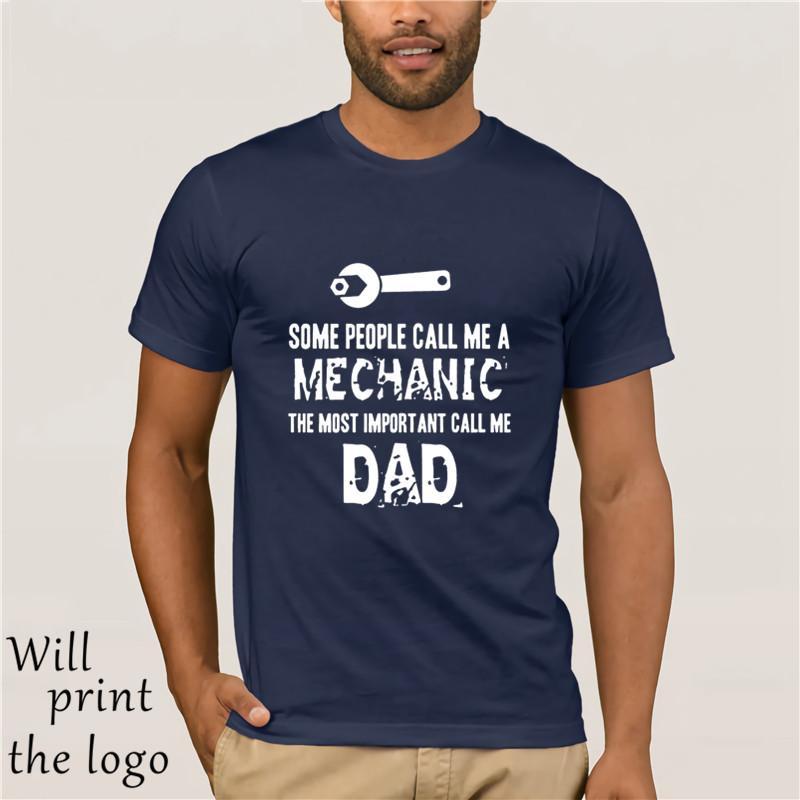 MÁS IMPORTANTE CALL ME del hombre DAD DAD en cortocircuito la ropa de cuello redondo de la camiseta Camiseta algunos Prople me llaman camisa de hombre mecánico