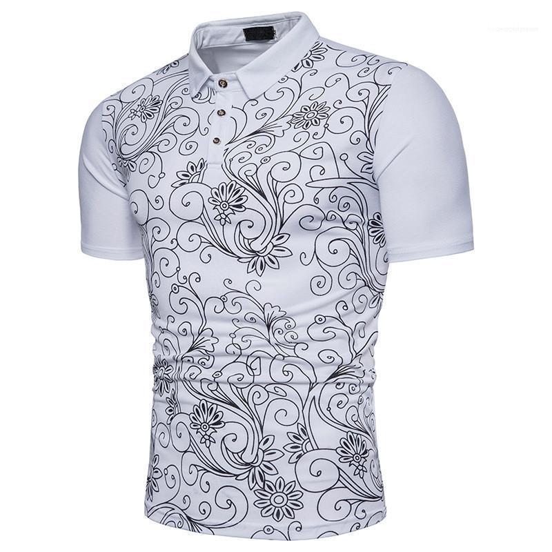 Neck Designer Polo Shirts Männer Mode-Druck-Mann-Polo-kurze Hülsen-beiläufige Normallack-Polos Schlanke Revers