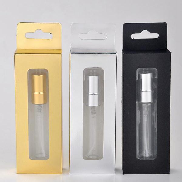 nouveau 5ml échantillon emballé parfum flacon presse bouteille d'emballage de parfum haut de gamme vaporisateur bouteille vide portable Voyage