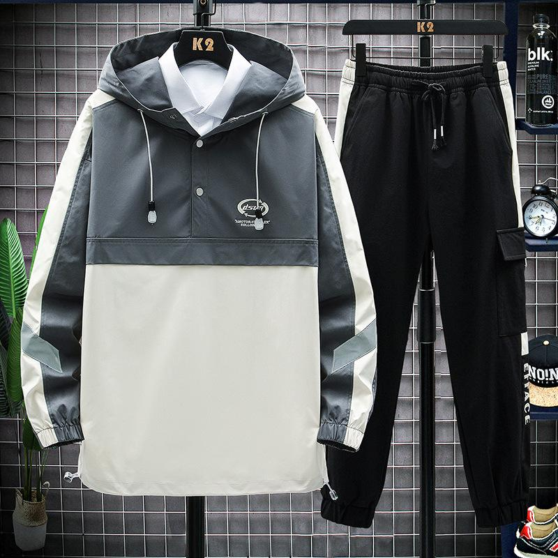 2020 Nouvelle arrivée Hommes Survêtements Mode Automne Homme Sport costumes deux pièces Casual Male Casual Veste à capuche Pantalons simple Taille M-4XL