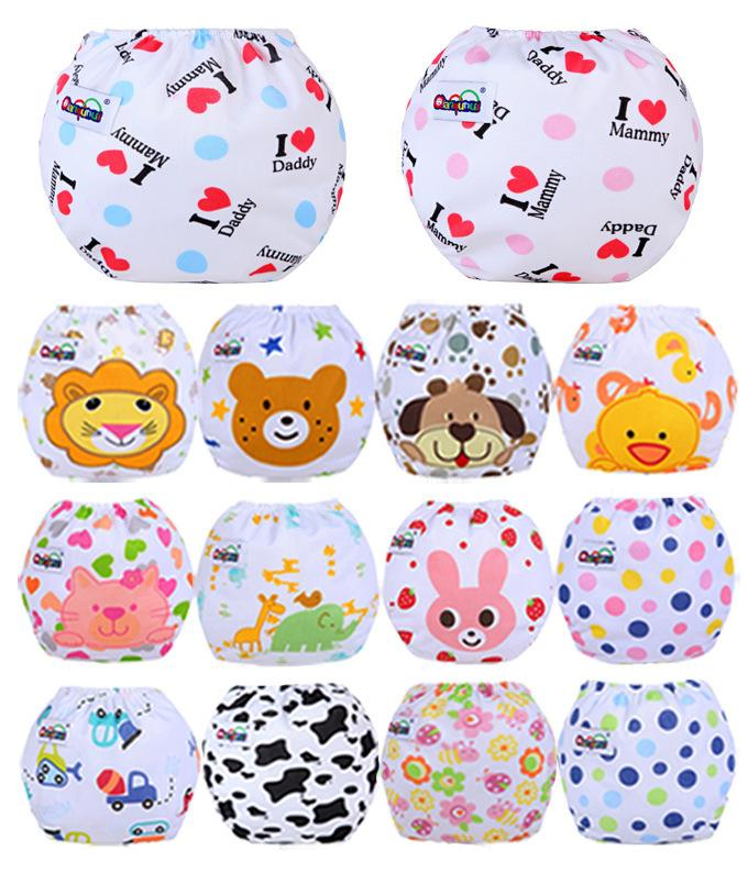 Free DHL UPS INS Baby Cloth Diapers 14 Styles Cartoon Love Mummy Adjustable Guaze Breathable Newborn Kids Diapers